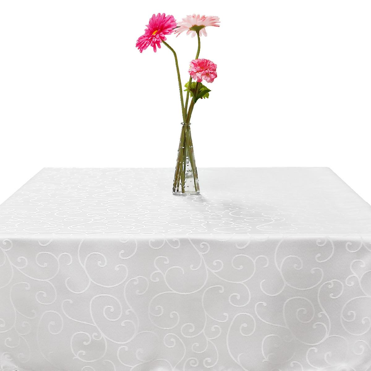 gartentischdecke tischdecke tischtuch pflegeleicht eckig wei 160 160 cm ebay. Black Bedroom Furniture Sets. Home Design Ideas