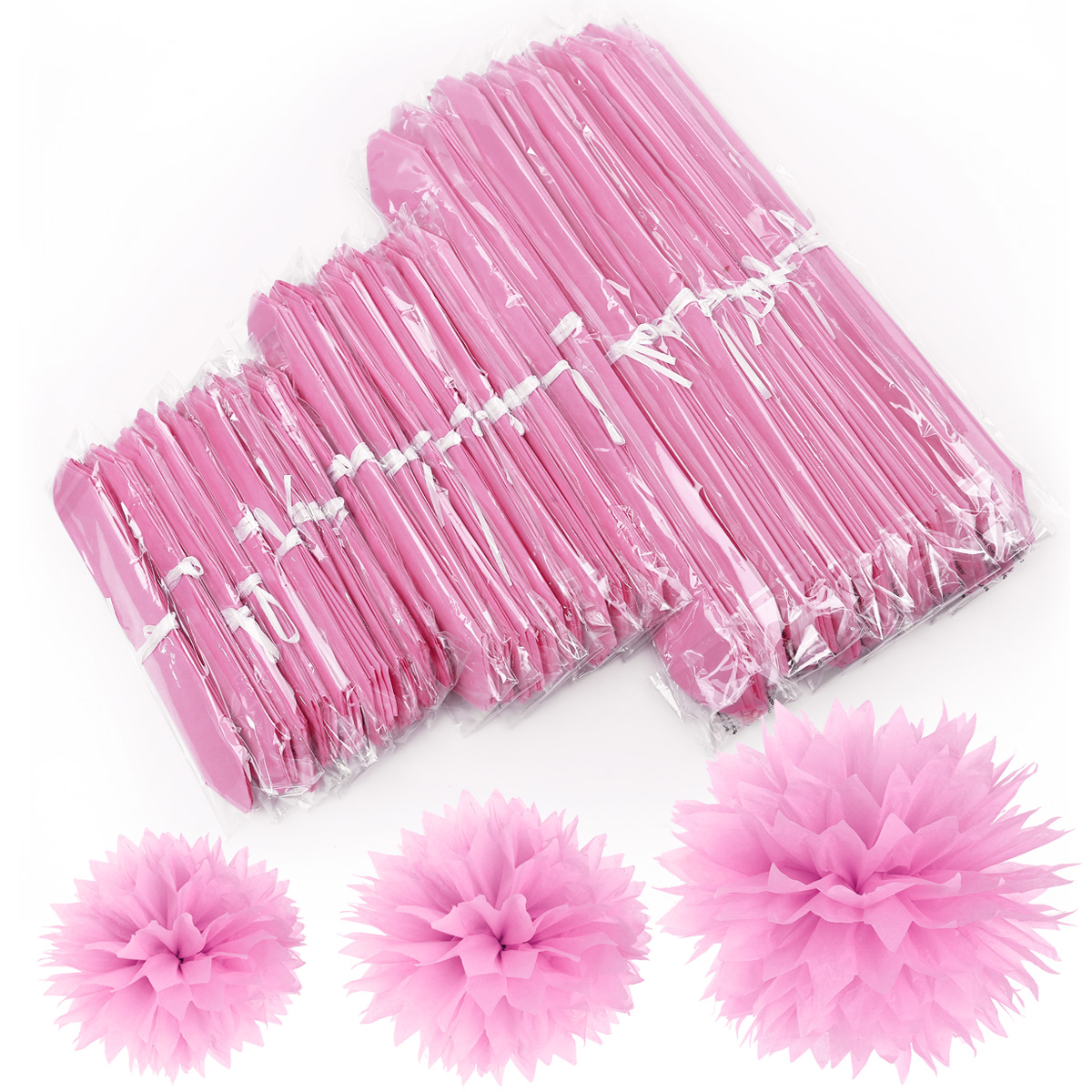 pink tissue paper pom poms You are here: home / girls / tissue paper pom poms tutorial  she loves the  color pink, so i knew i would try to find ways to incorporate that.