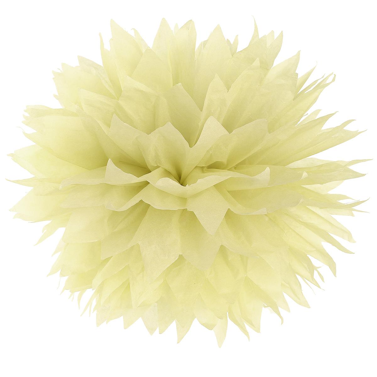 30x pompon papier de soie fleur boule 3 tailles beige d coration suspension 21 ebay. Black Bedroom Furniture Sets. Home Design Ideas