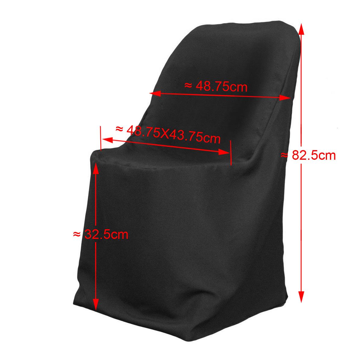 10x housse de chaise polyester noir pour banquet c r monie for Housse de chaise noir