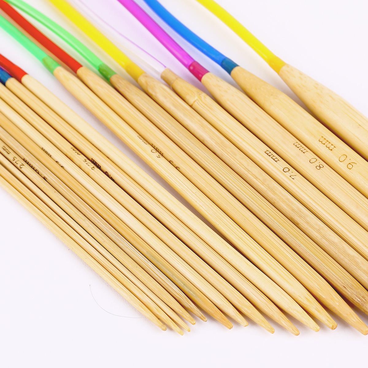 18 x aiguille circulaire pour tricot bambou 2 10mm tube for Bambou plastique