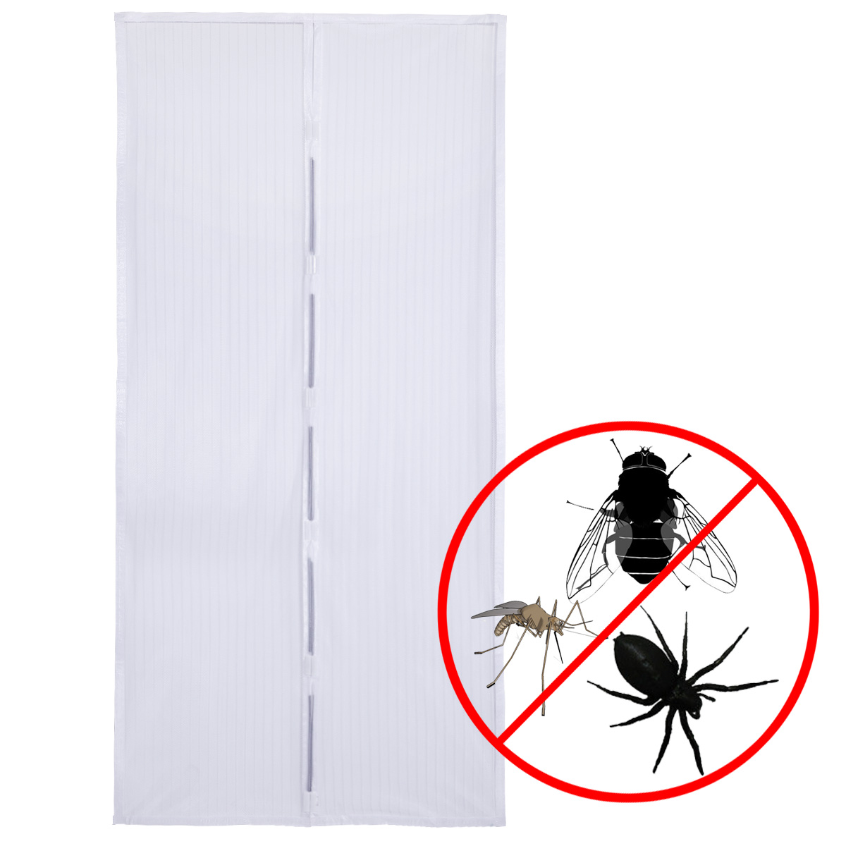 weiss moskitonetz fliegengitter gitter magnete moskito vorhang t r 210cm ebay. Black Bedroom Furniture Sets. Home Design Ideas