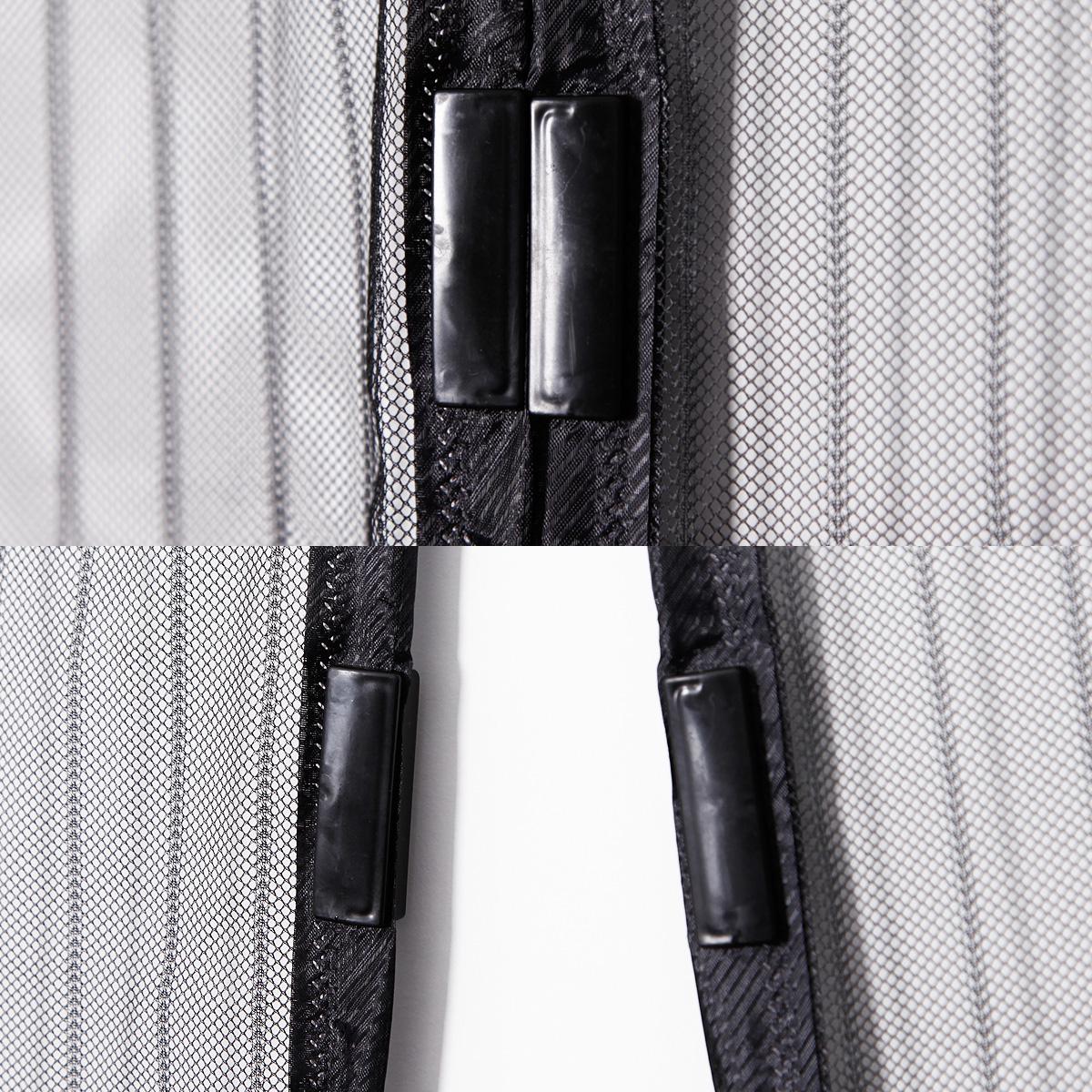 moustiquaire ray rideau de porte anti mousitique fermoir aimant 100x210cm ebay. Black Bedroom Furniture Sets. Home Design Ideas