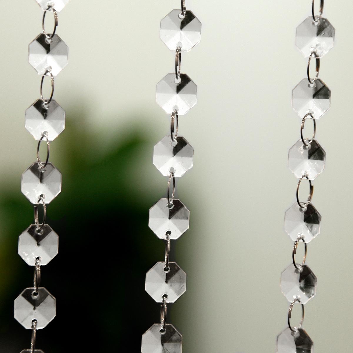 10er 1 meter kristall kette vorhang clear hochzeit party wohnung ...