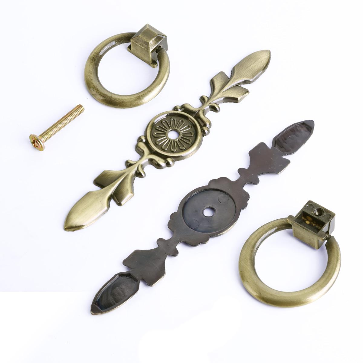 Vintage Chic Metal Drawer Pulls Antique Brass Door