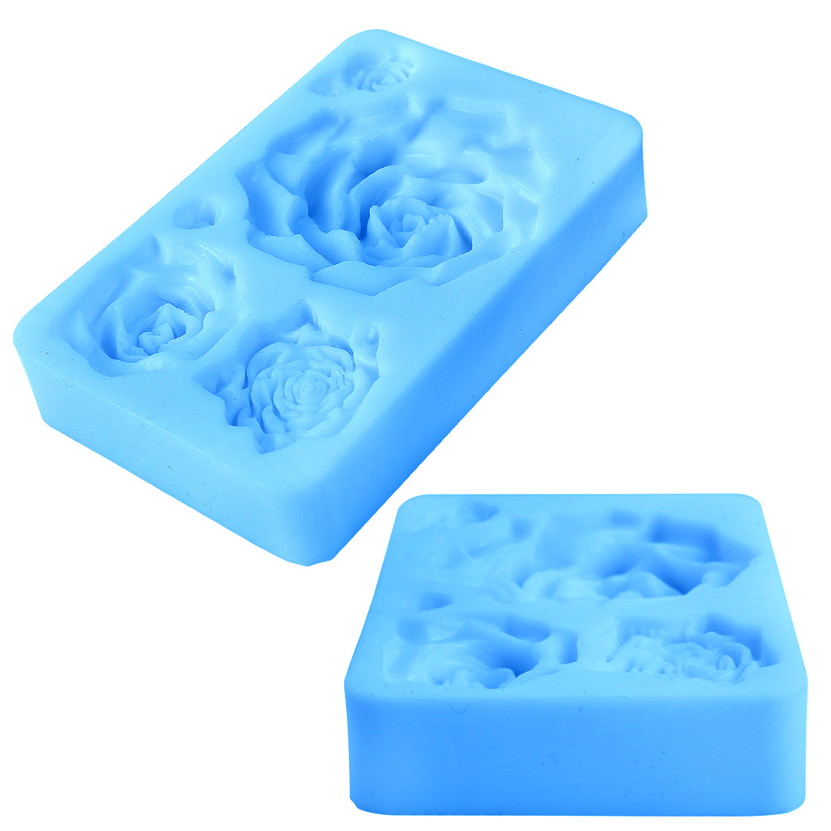 moule silicone roses 5 tailles pour p te sucre fondant g teau ebay. Black Bedroom Furniture Sets. Home Design Ideas