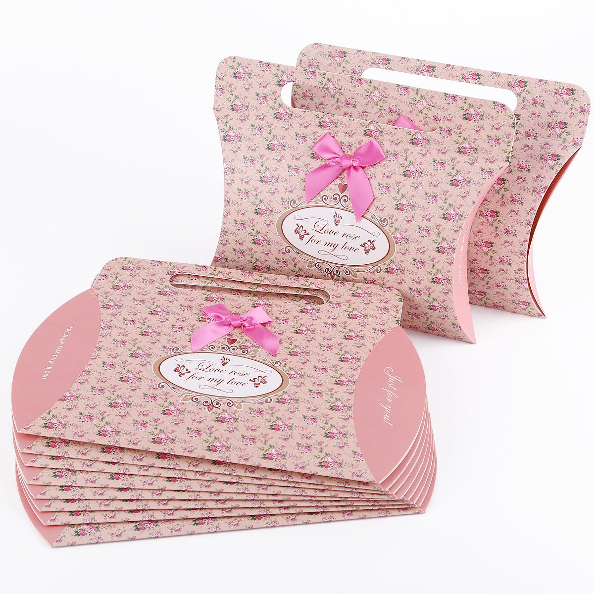 Wedding Gift Wrap Bags : ... Bag Flora Print Candy Box W/ Bow Craft Card Wedding Gift Wrap eBay