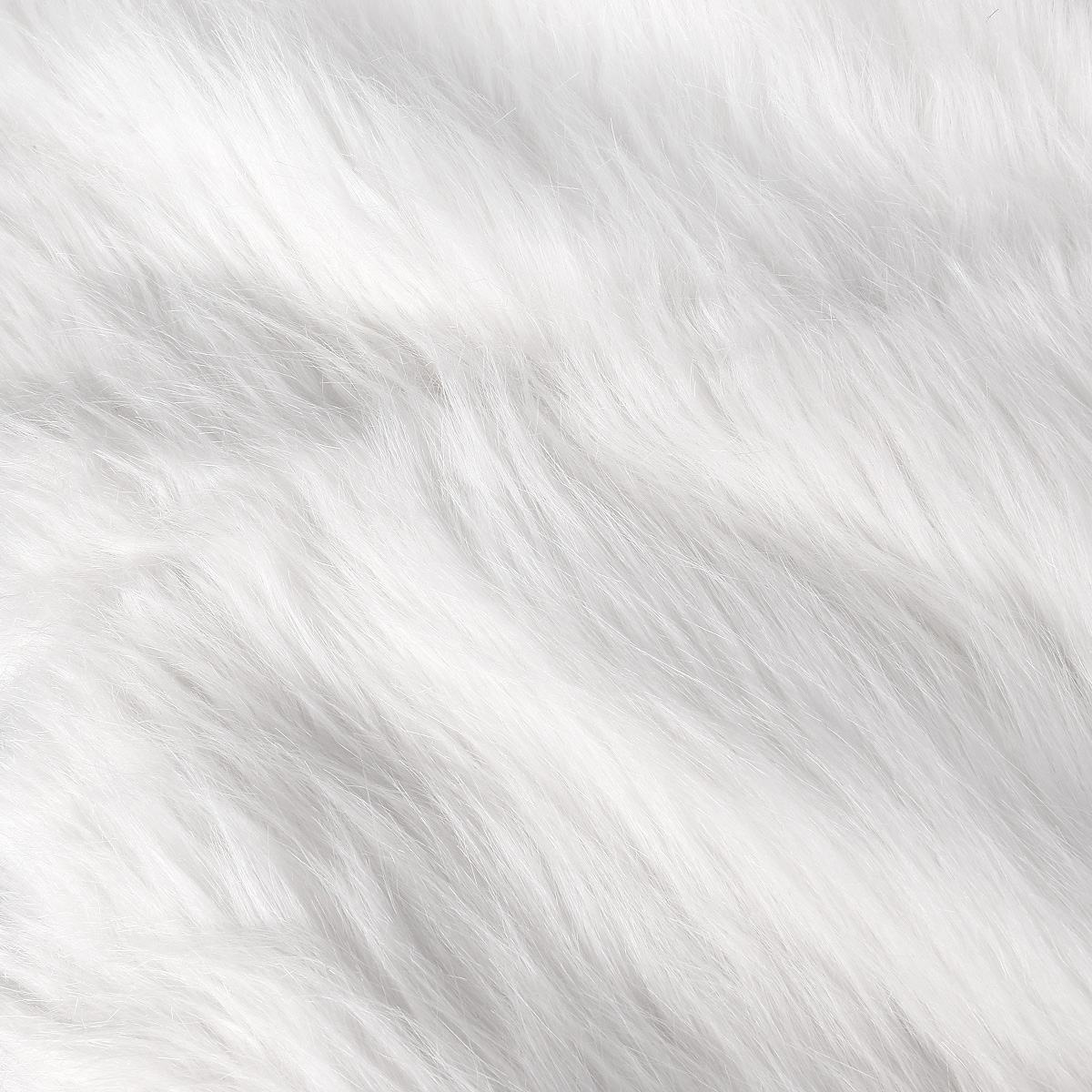 white luxury shag faux fur shaggy long hair pile fabric 100x155cm ebay. Black Bedroom Furniture Sets. Home Design Ideas