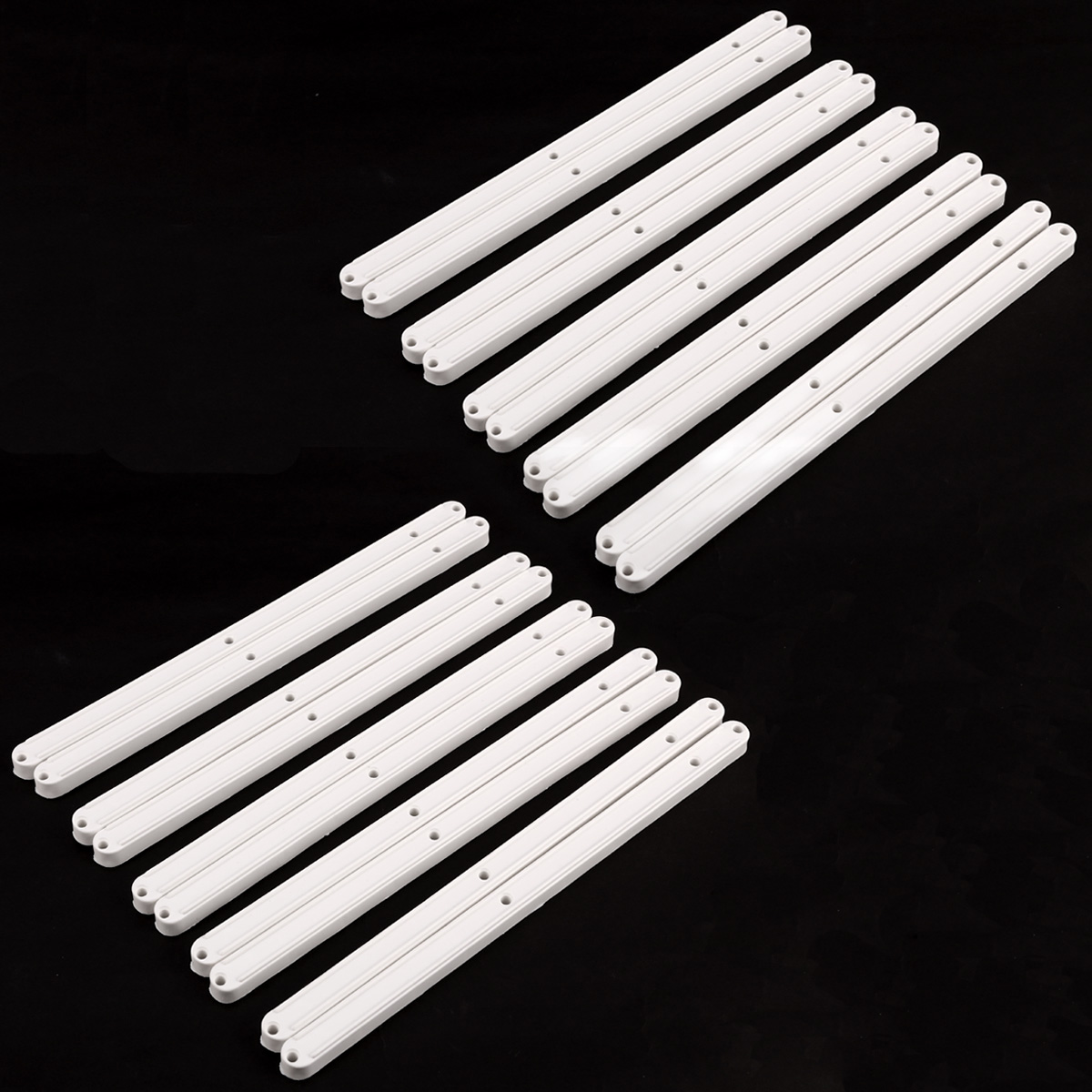 30cm plastic draw drawer runners kitchen bedroom cabinet guide