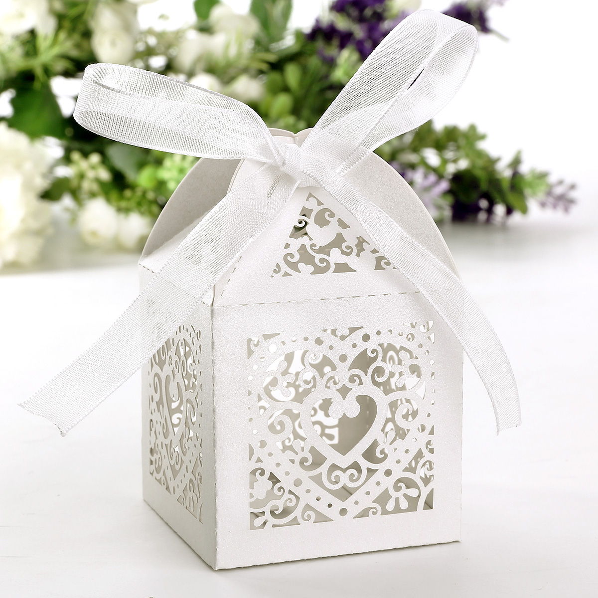 Wedding Gift Boxes Uk : Ivory Cube Box For Cup Cake Wedding Favour Gift Boxes Chocolate ...