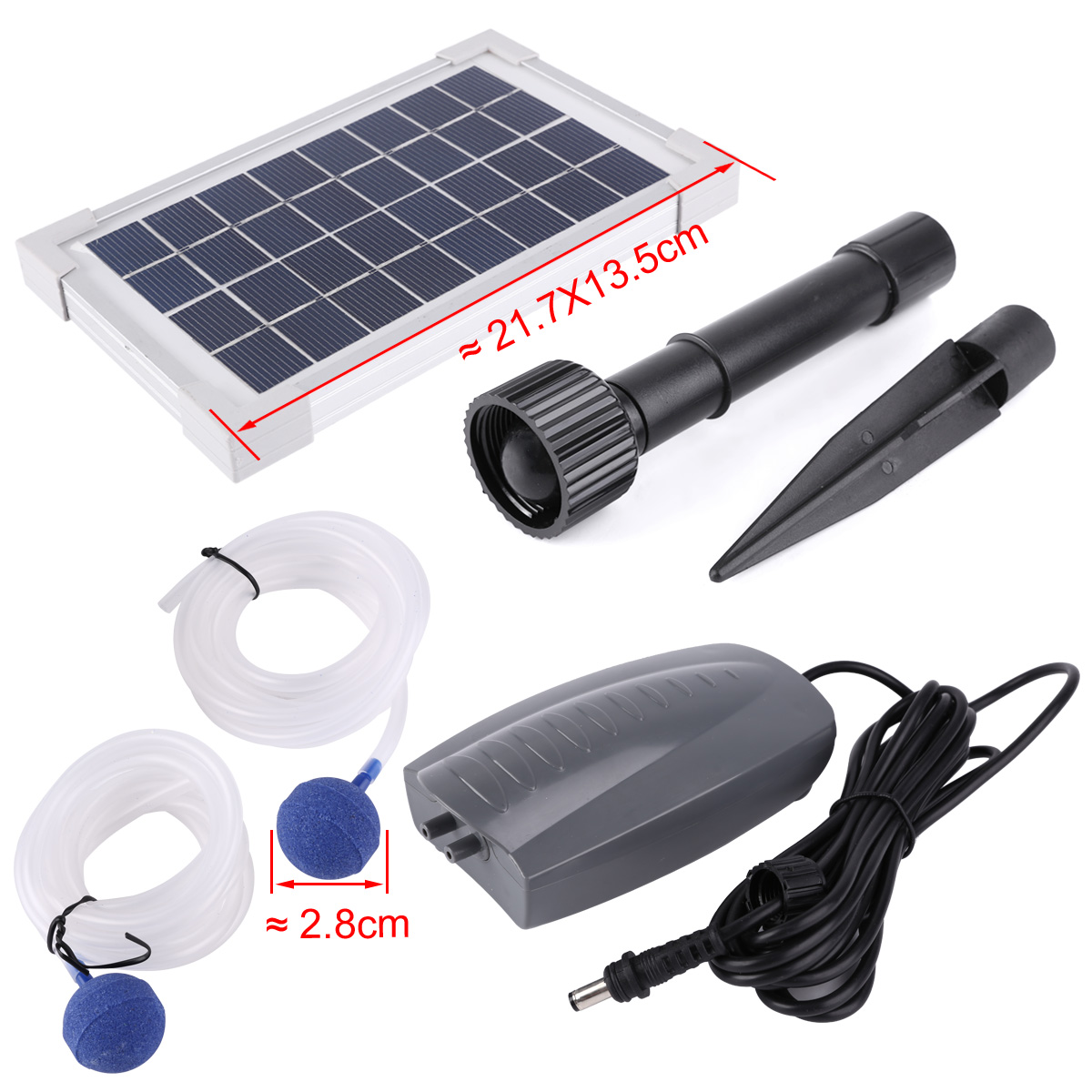 2 5w Solar Powered Panel Oxygenator Oxygen Water Air Pump Garden Pond Aerator Ebay