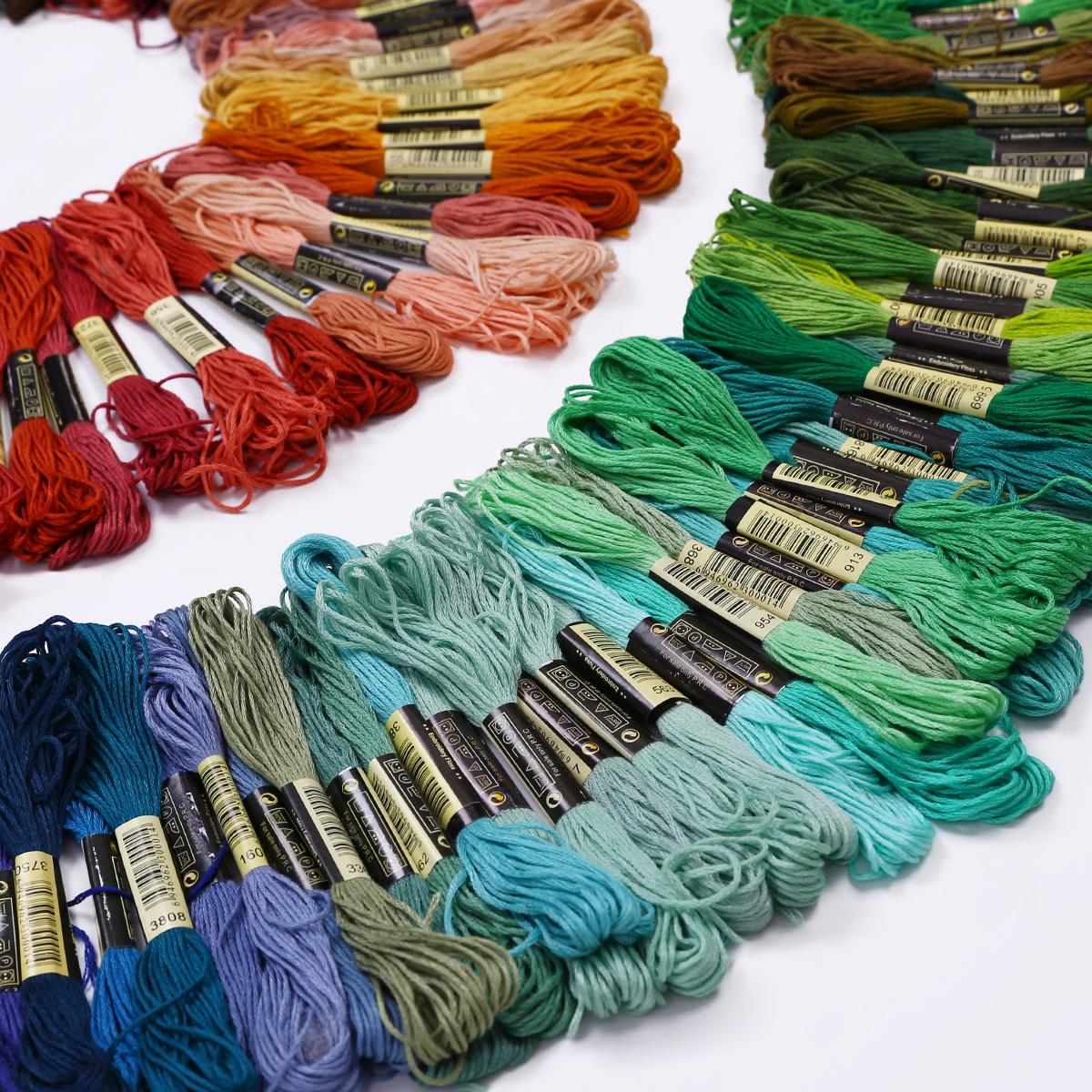 Lot 300 Multi Colors Cross Stitch Cotton Embroidery Thread
