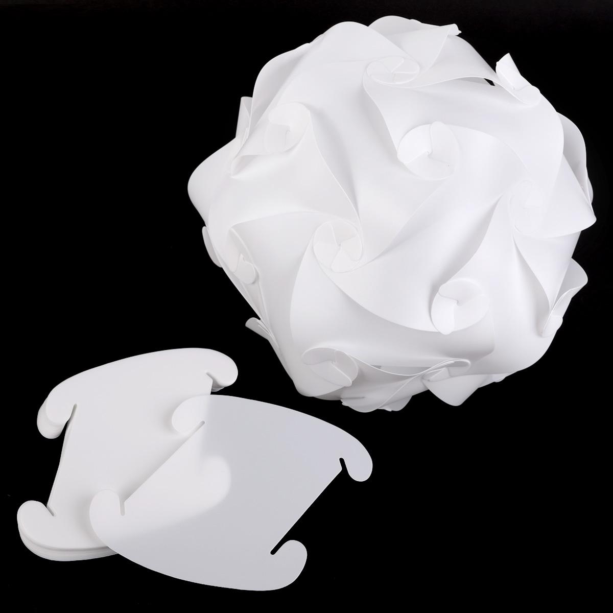 abat jour suspendu plastique blanc puzzle 30 morceaux lampe 25cm 30cm 40cm. Black Bedroom Furniture Sets. Home Design Ideas