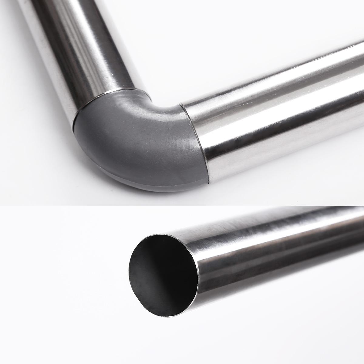 silber duschvorhangstange winkelstange f r duschvorhang mit 12 ringe ebay. Black Bedroom Furniture Sets. Home Design Ideas