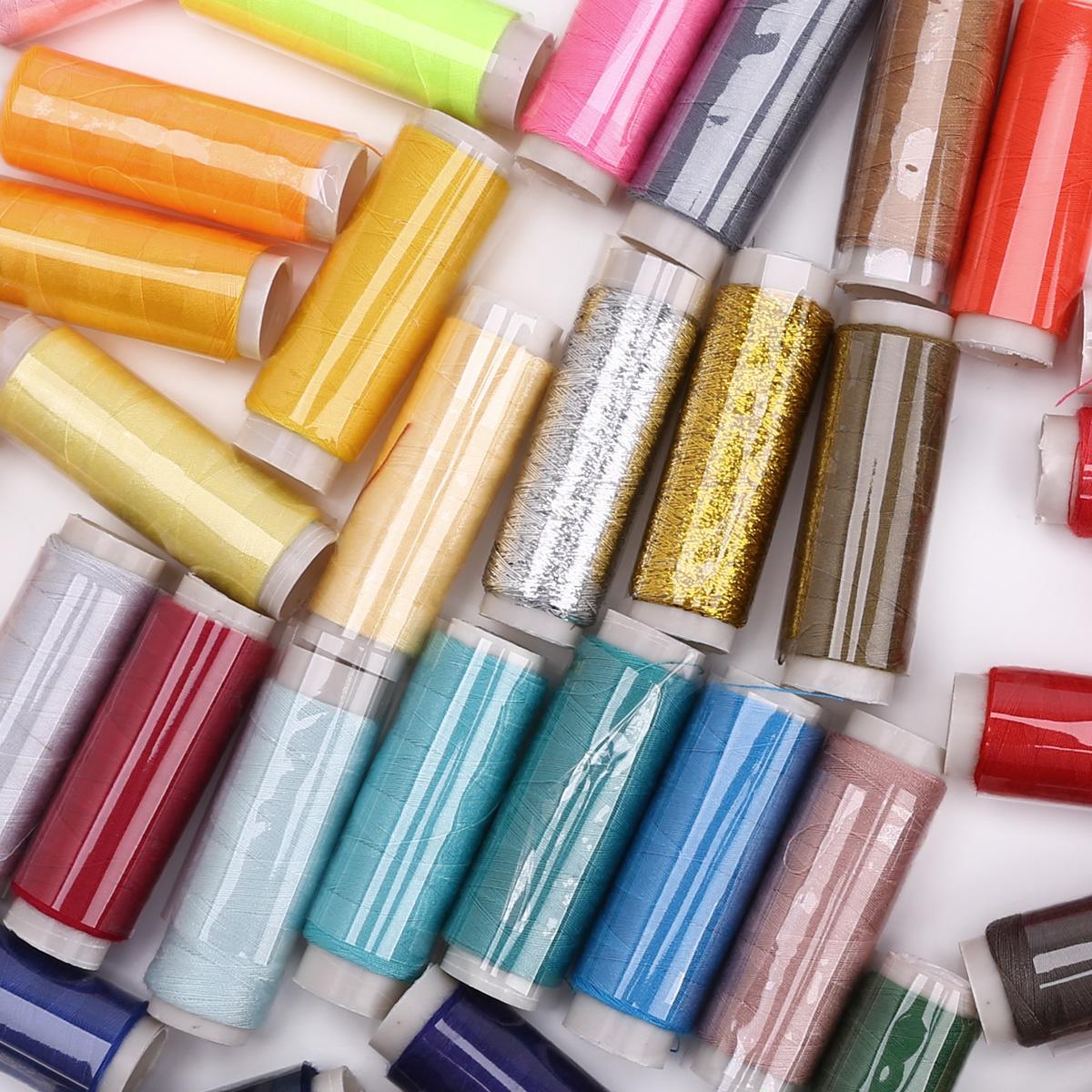50 bobines fil de couture 150 yards multicolore ebay for Fil de couture