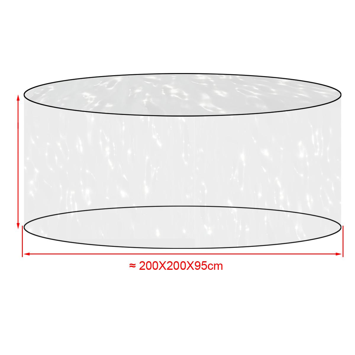 Housse de protection transparent pour meuble jardin - Housse de protection meuble exterieur ...