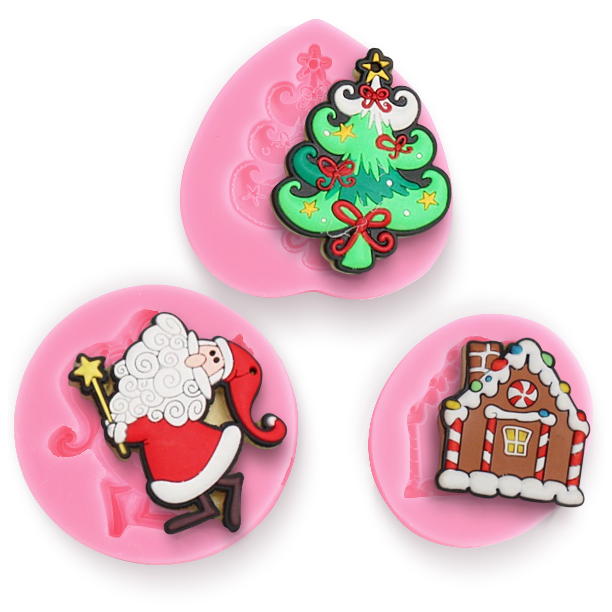 Christmas sets~ Silicone Fondant Mold Cake Decoration ...