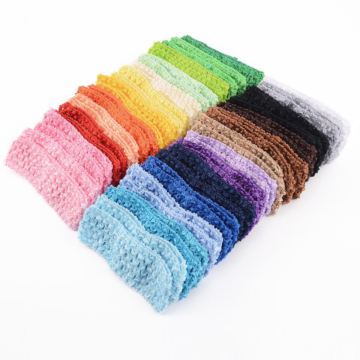 50x bandeau cheveux crochet elastique 25 couleurs pour fille enfant b b ebay. Black Bedroom Furniture Sets. Home Design Ideas