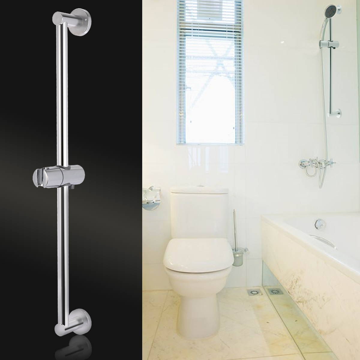 how to fix a shower head holder