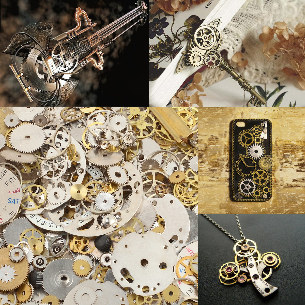 50 gramm steampunk uhr zahnr der bastelset charms basteln metall gothic vintage ebay. Black Bedroom Furniture Sets. Home Design Ideas