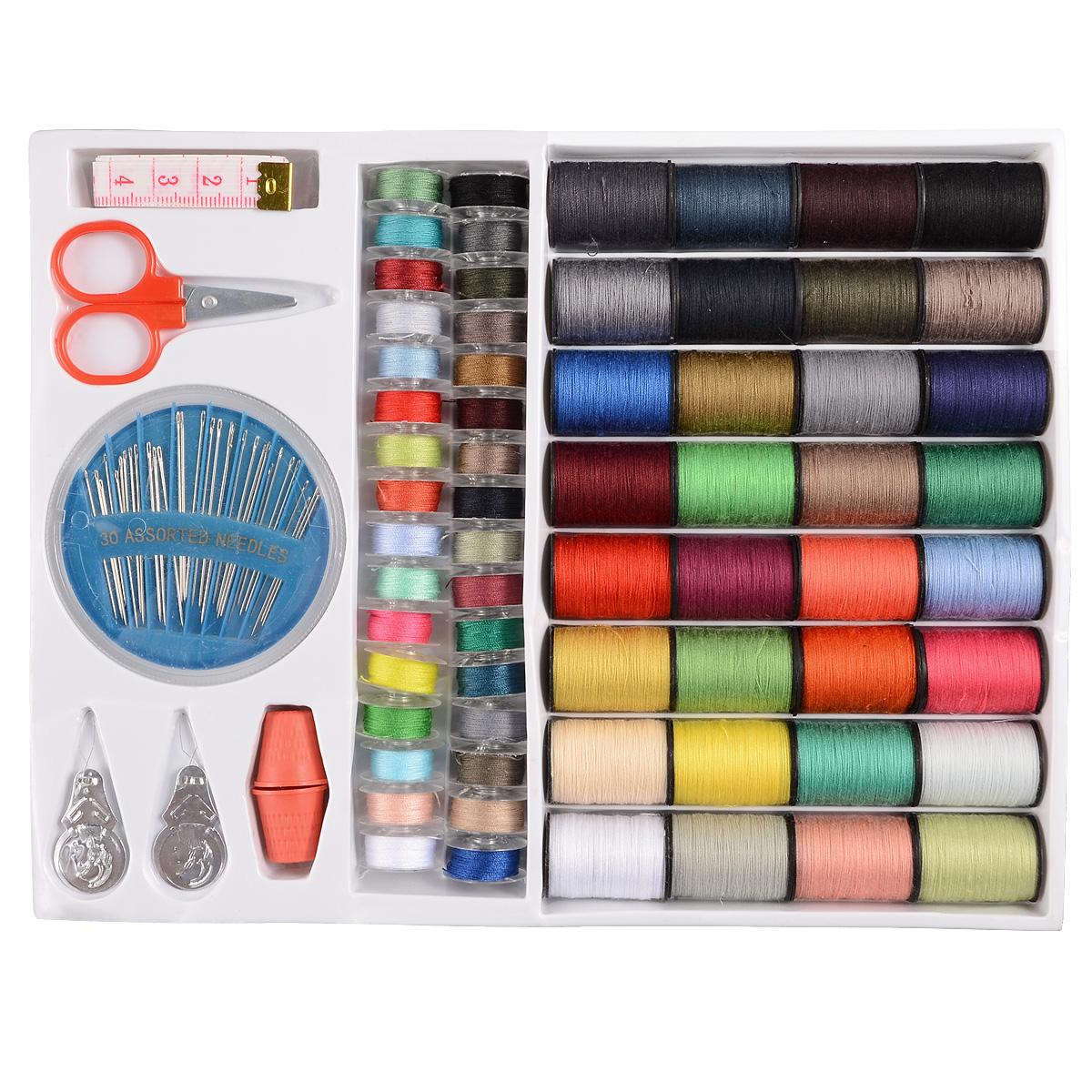Kit de costura 64 piezas hilos de colores set de costura para m quina de coser ebay - Set de costura ...