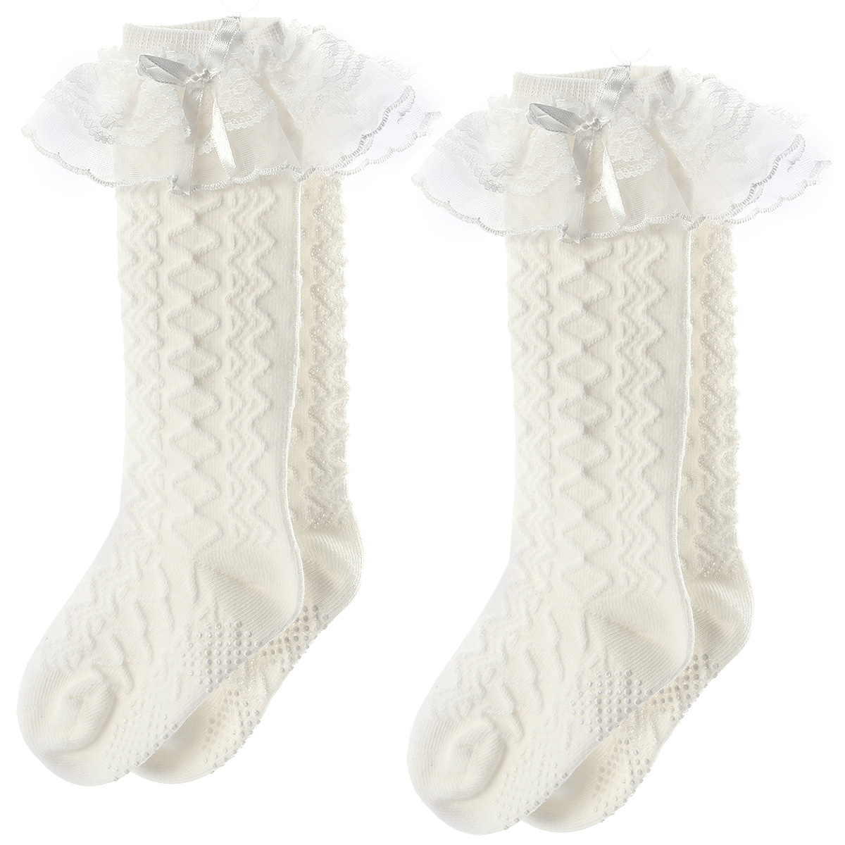 2x Kid Toddler Knee High Socks Tights Baby Girl Leg Warmer