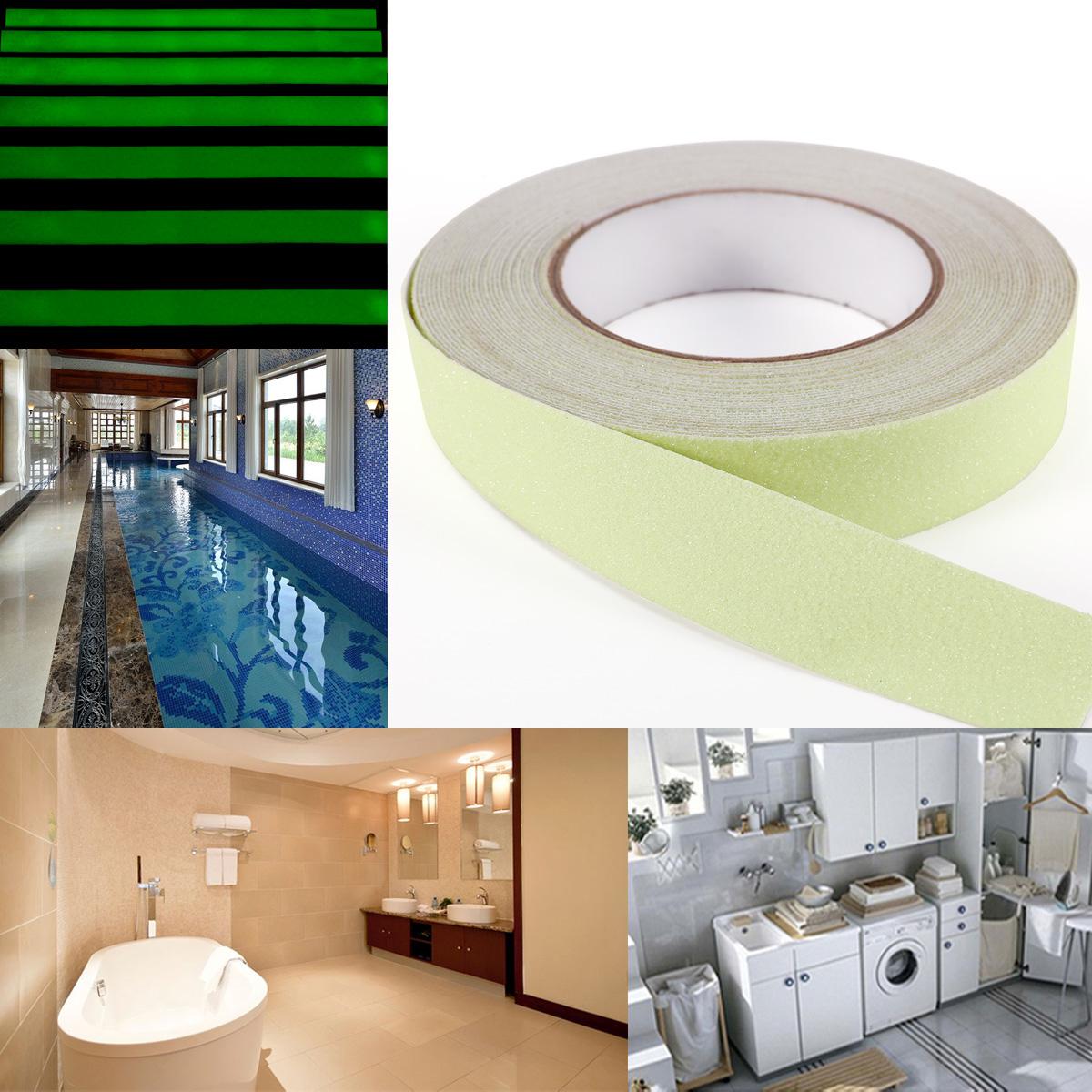 Cinta antideslizante fotoluminiscente para escaleras - Antideslizante para duchas ...