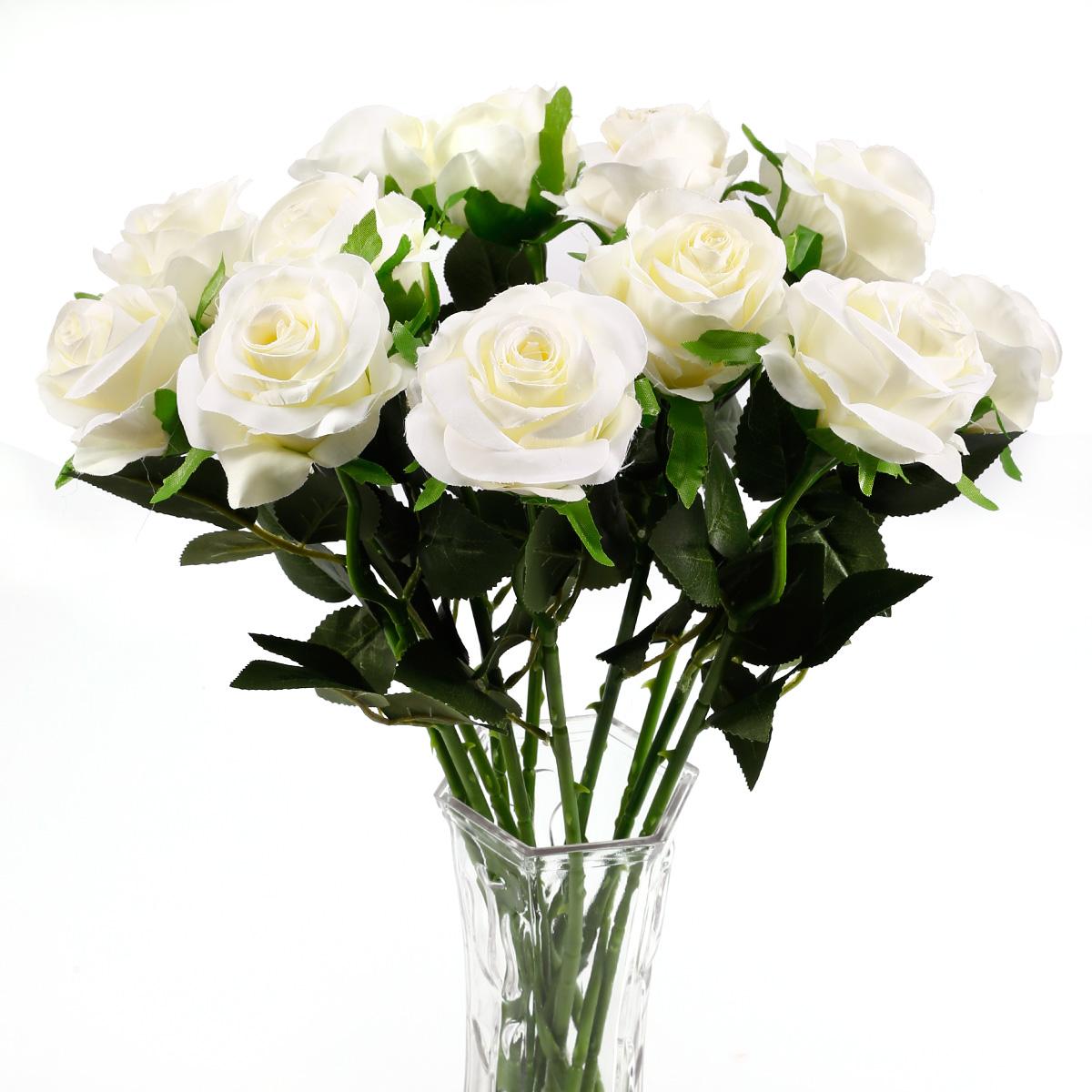 12 x k nstliche blumen blumenstrau rosenstrau haus for Zimmer deko rosen