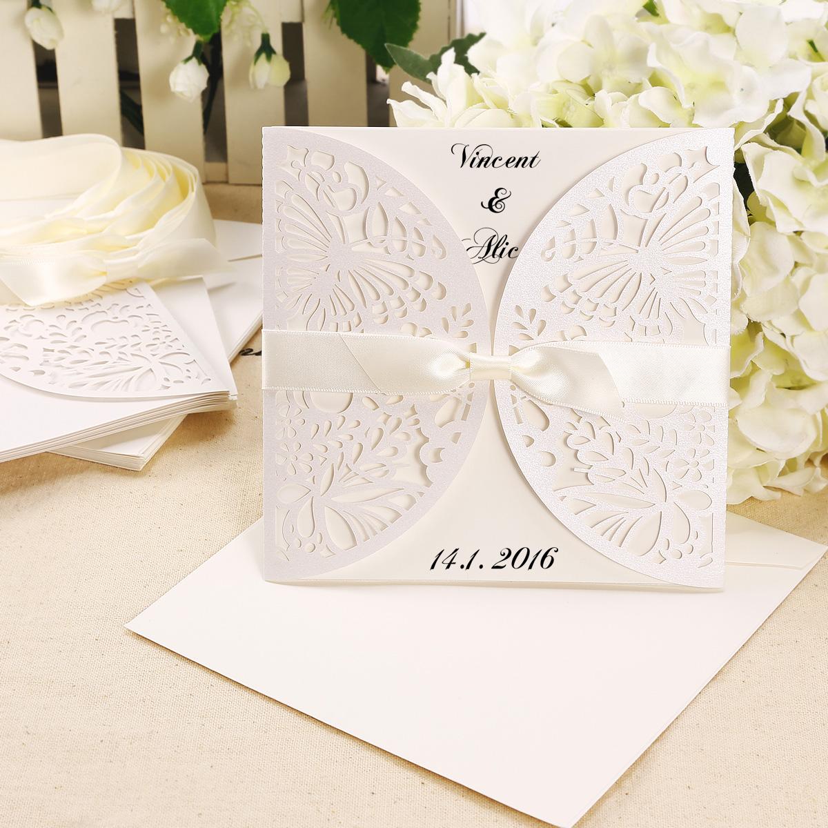 invitaciones de boda dise u00f1o vintage elegante  pack de 10
