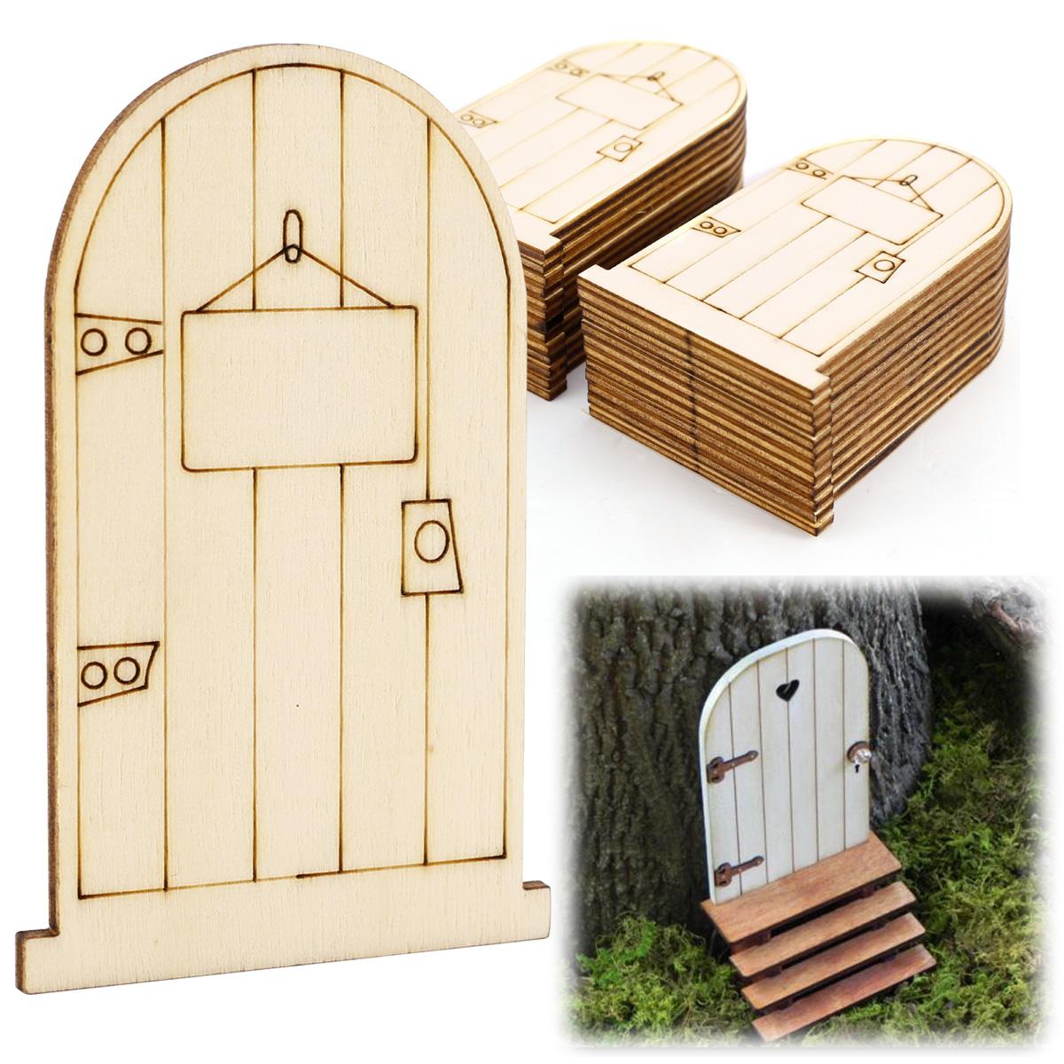 25pcs puertas de hadas de madera decoraci n para casas de for Hechuras de casas