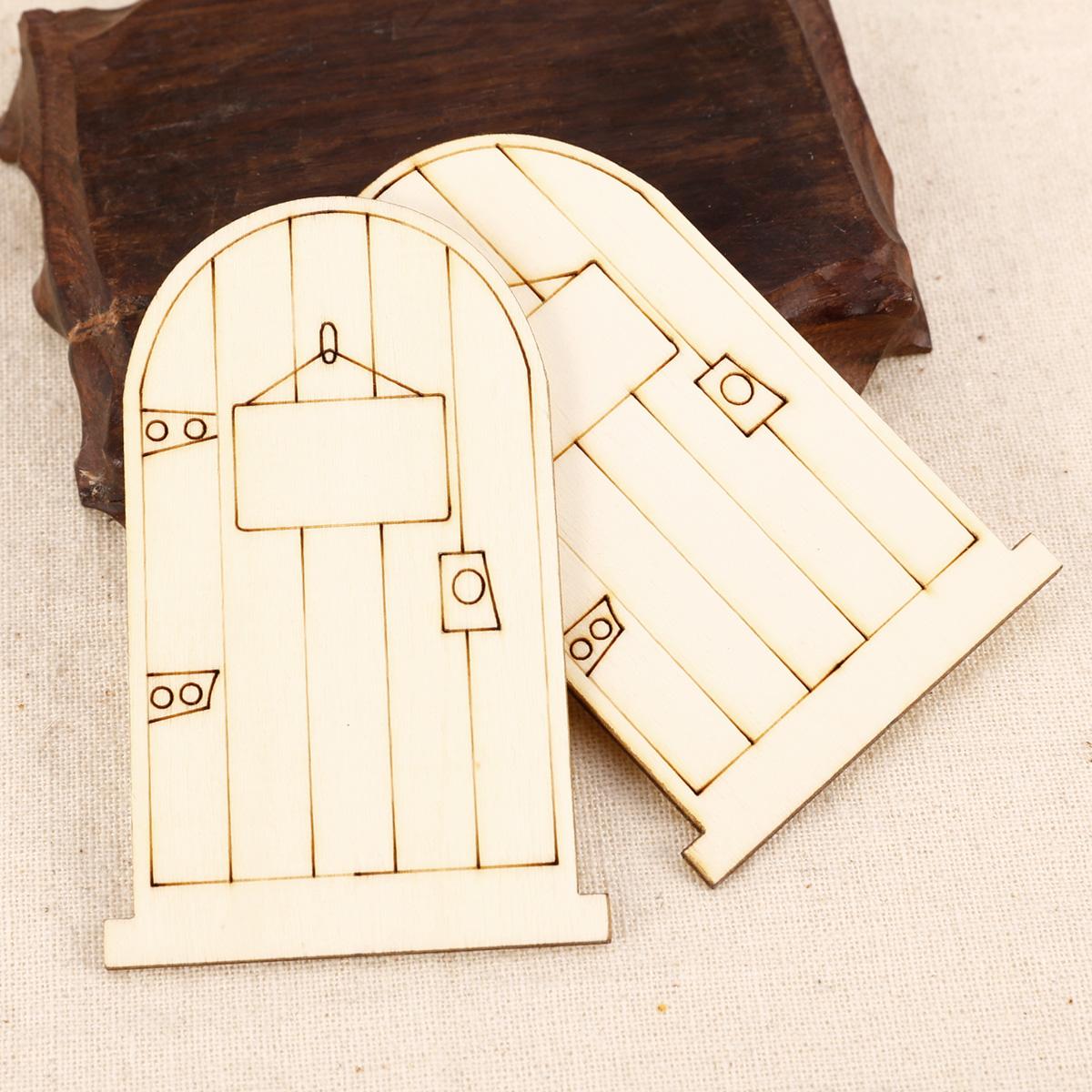 25 wooden secret garden fairy elf door craft drawing gift for Wooden fairy doors to decorate
