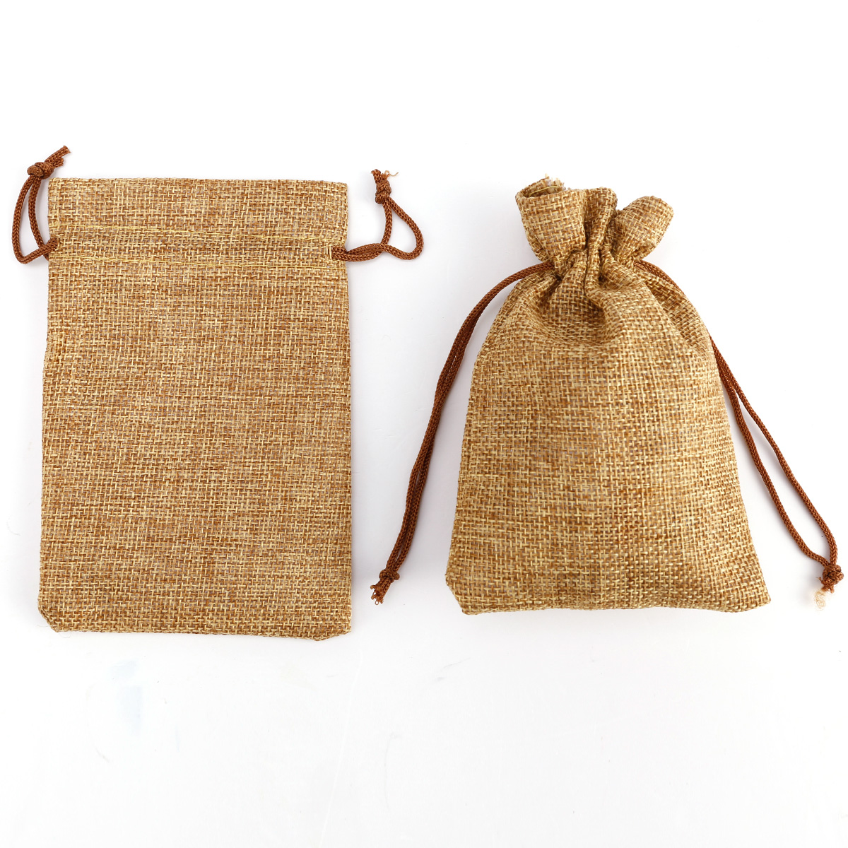 20 natural burlap bags jute hessian drawstring sack small wedding favor gift ebay. Black Bedroom Furniture Sets. Home Design Ideas