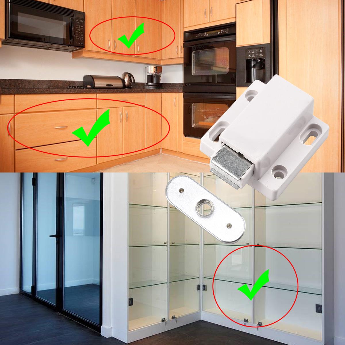 Open Kitchen Gate: Push To Open Latches Magnetic Pressure Catches Kitchen Caravan Cabinet Doors
