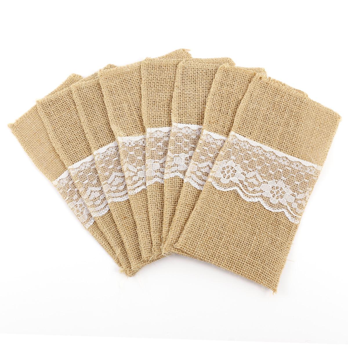 Arpillera para porta cubiertos tela de saco para decorar - Saco arpillera ...
