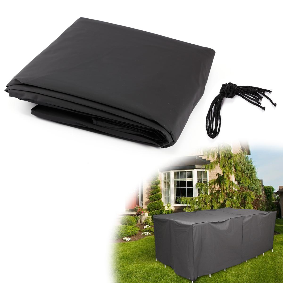 housse de protection noir pour meuble de jardin polyethylene 242x162x100cm ebay. Black Bedroom Furniture Sets. Home Design Ideas