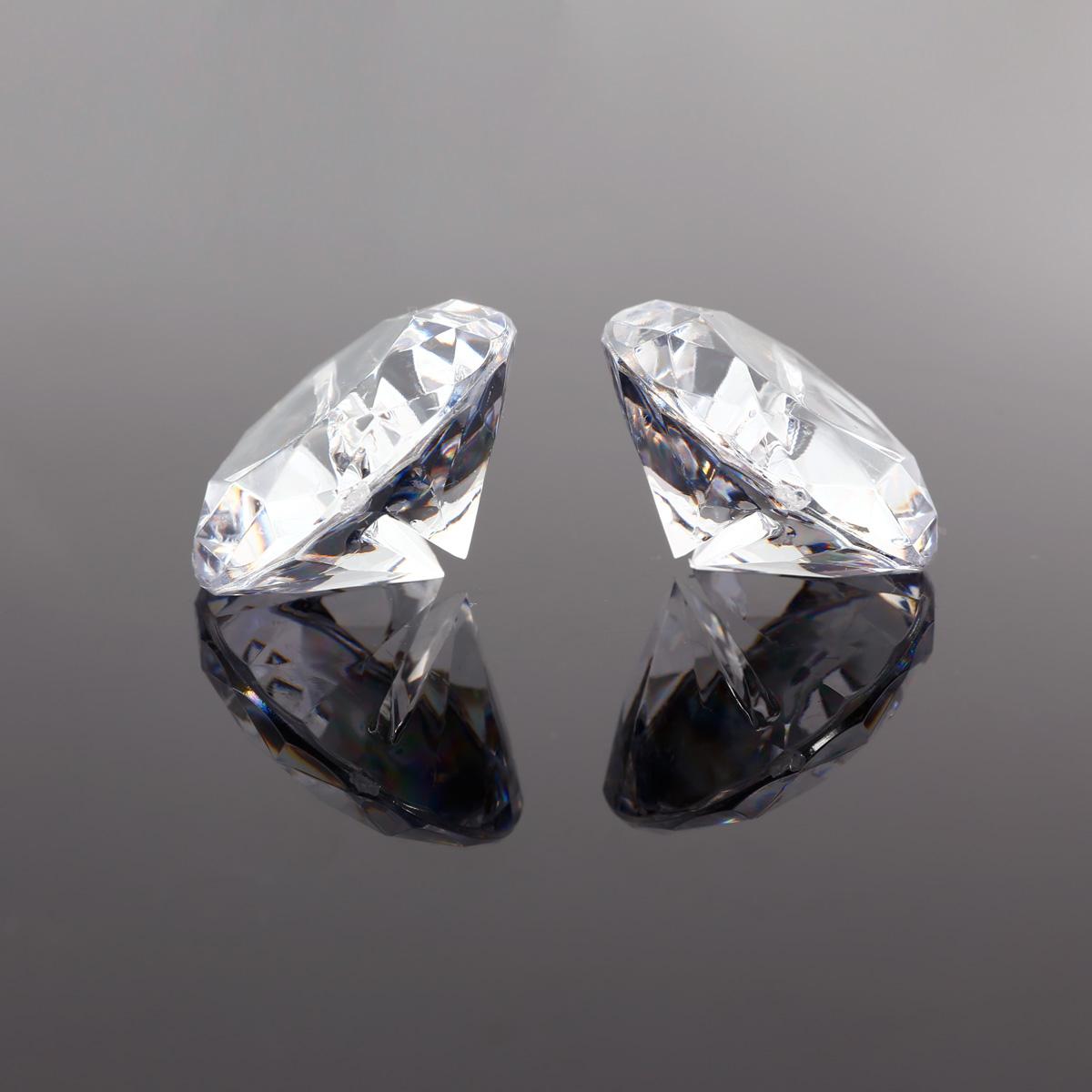 4cm Diamond Shape Crystal Acrylic Place Card Holder