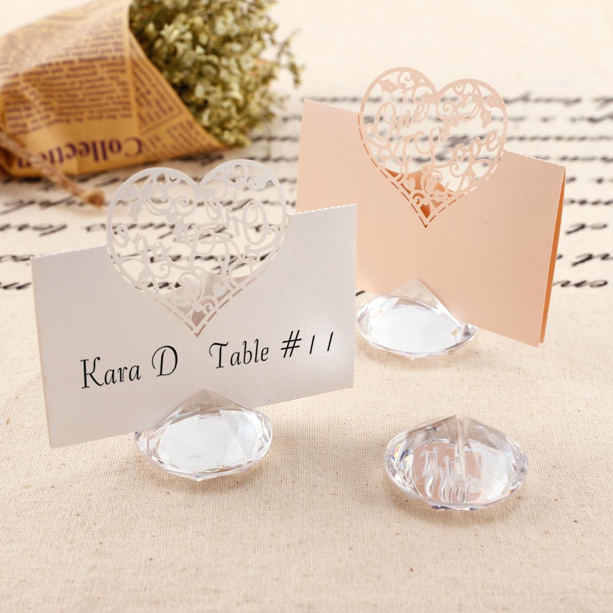 20 Acrylic/Crystal/Diamond Look Place Name Card Holders