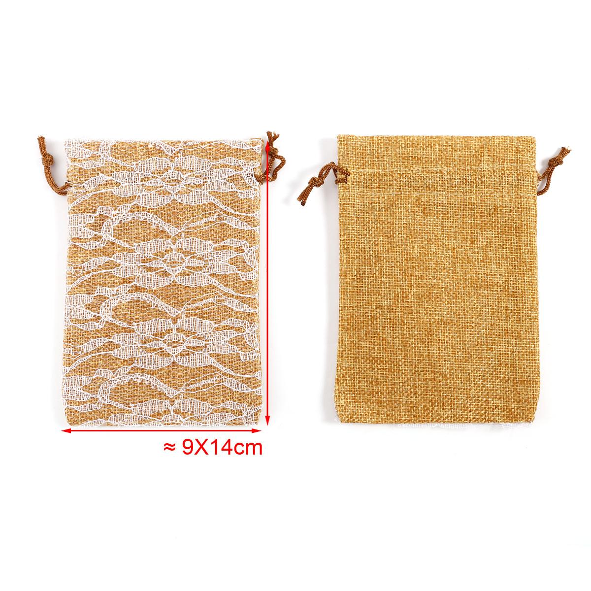 Bolsa de organza bolsitas de tela de saco con encaje para - Bolsitas de tela de saco ...