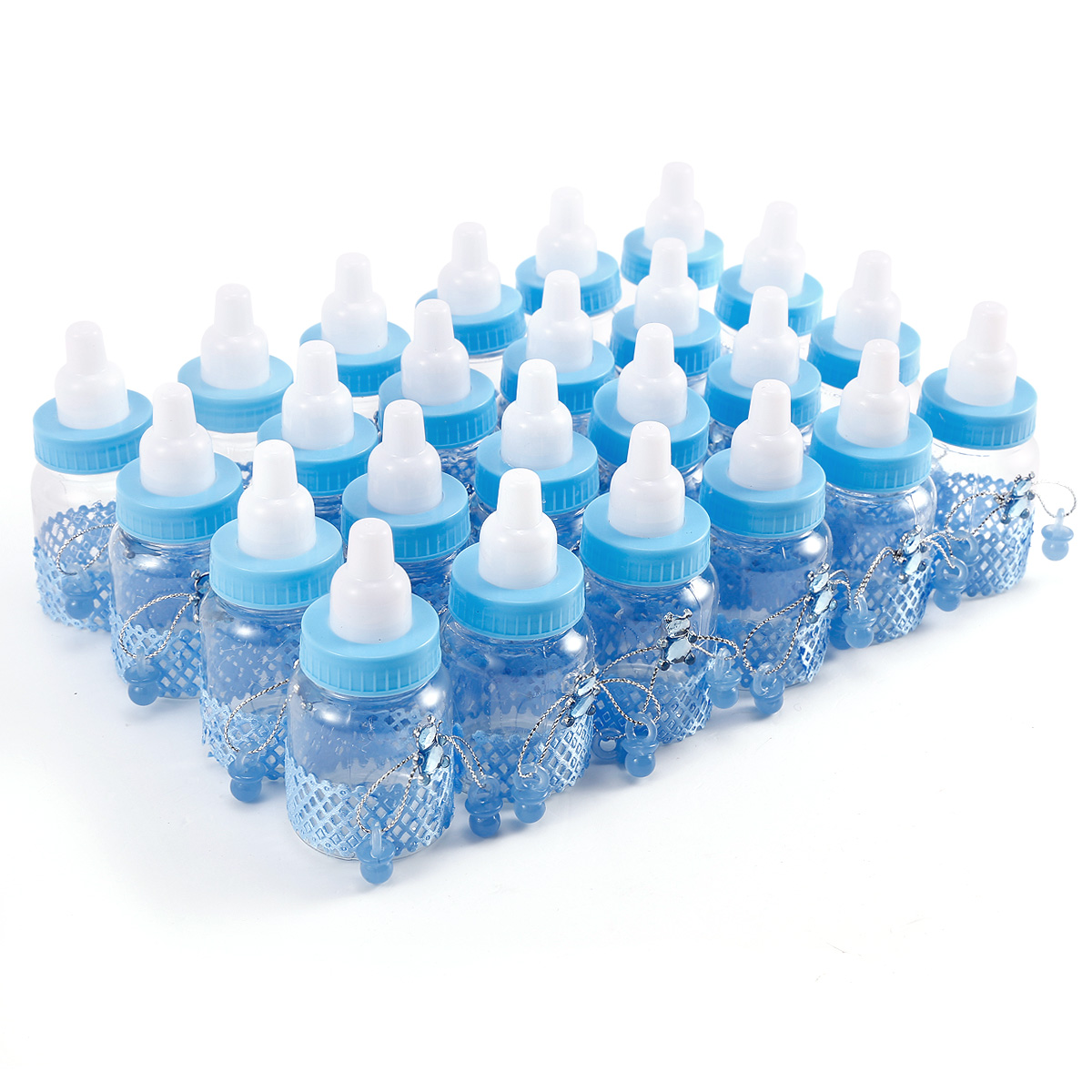 24er blau b r schnuller milchflasche babyflasche taufe geburt deko gastgeschenk ebay. Black Bedroom Furniture Sets. Home Design Ideas
