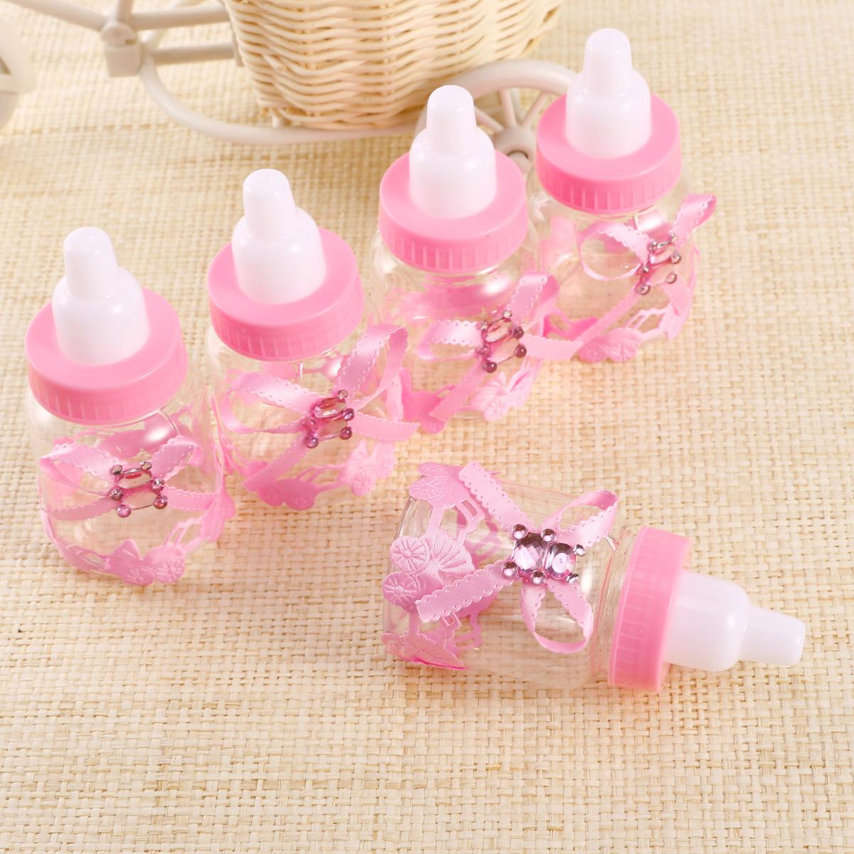 pcs cute baby candy bottles blue pink lids lollies baby shower ebay