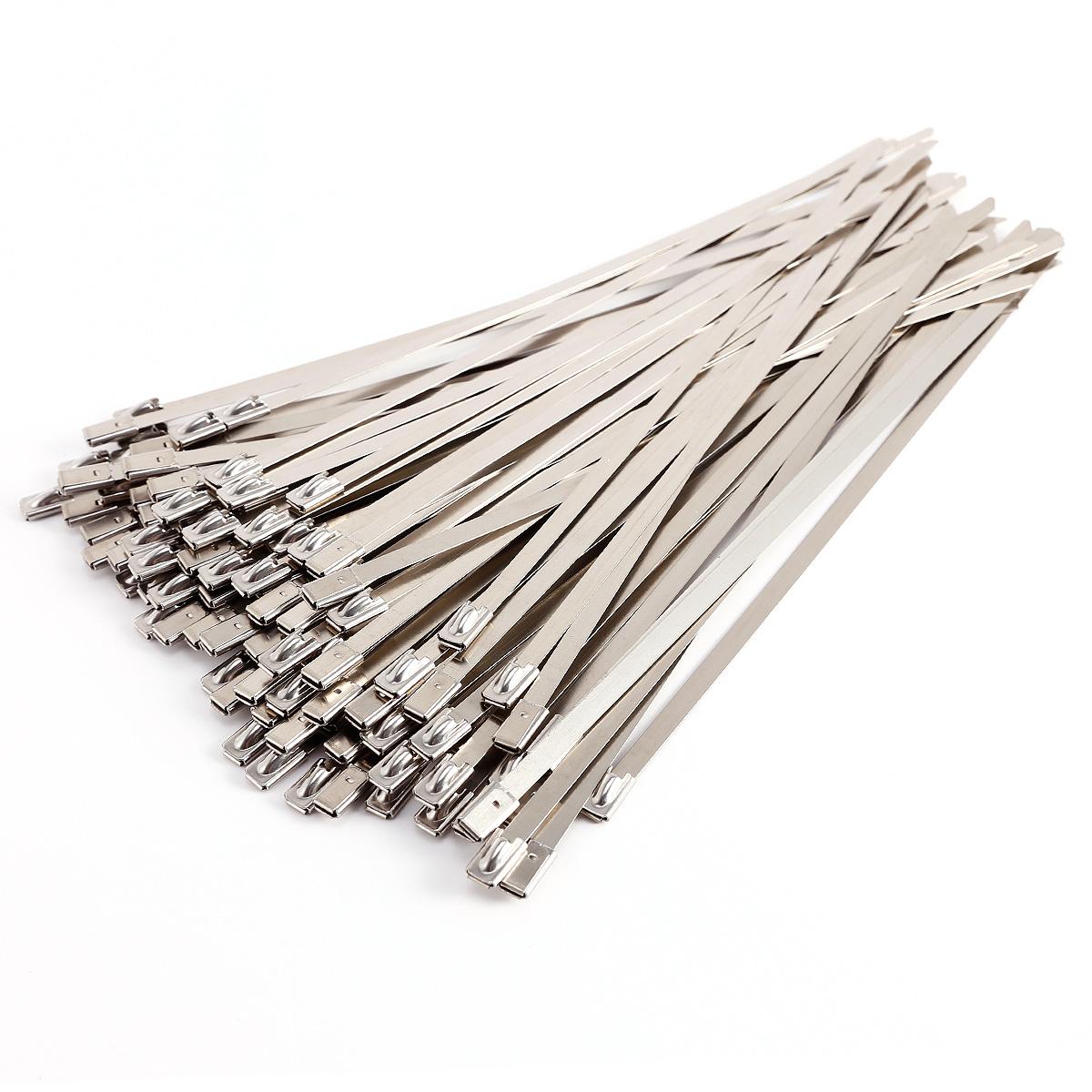 100pcs 2 5cm Stainless Steel Metal Cable Wire Ties Zip Tie
