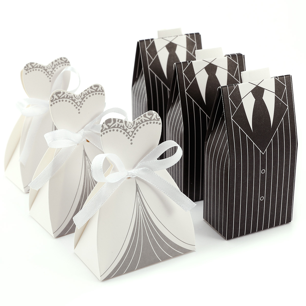 Wedding Dress And Tuxedo Favour Boxes - Wedding Guest Dresses