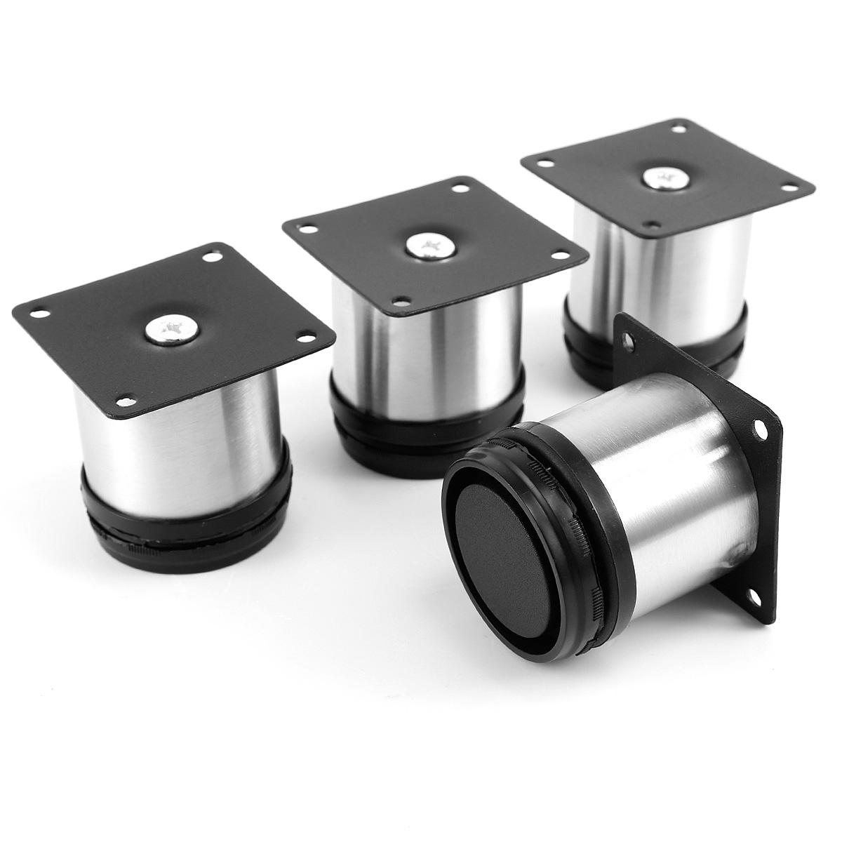 4 Pcs Cabinet Metal Legs Adjustable Stainless Steel