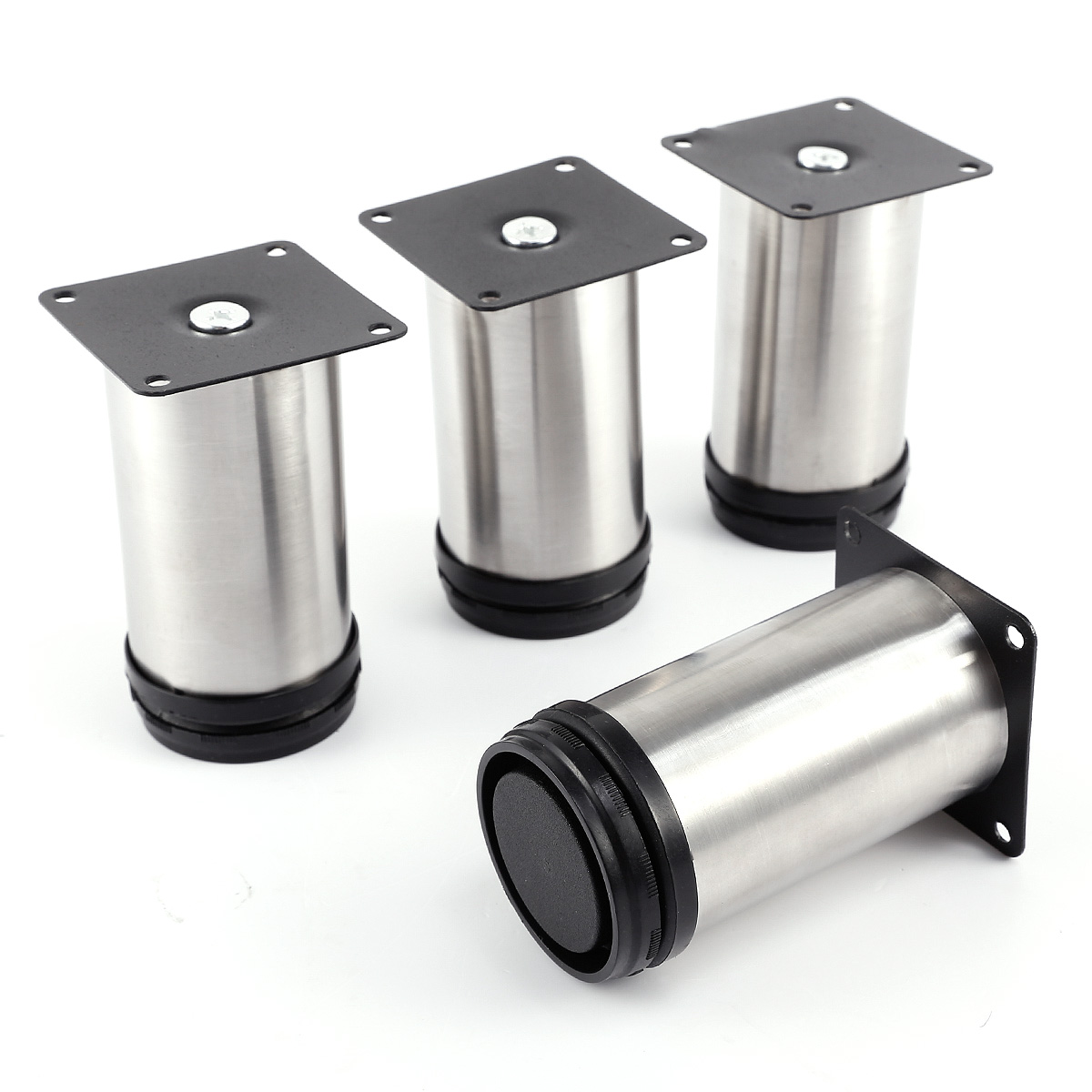 Adjustable Kitchen Cabinet Legs: 4 Pcs Cabinet Metal Legs Adjustable Stainless Steel