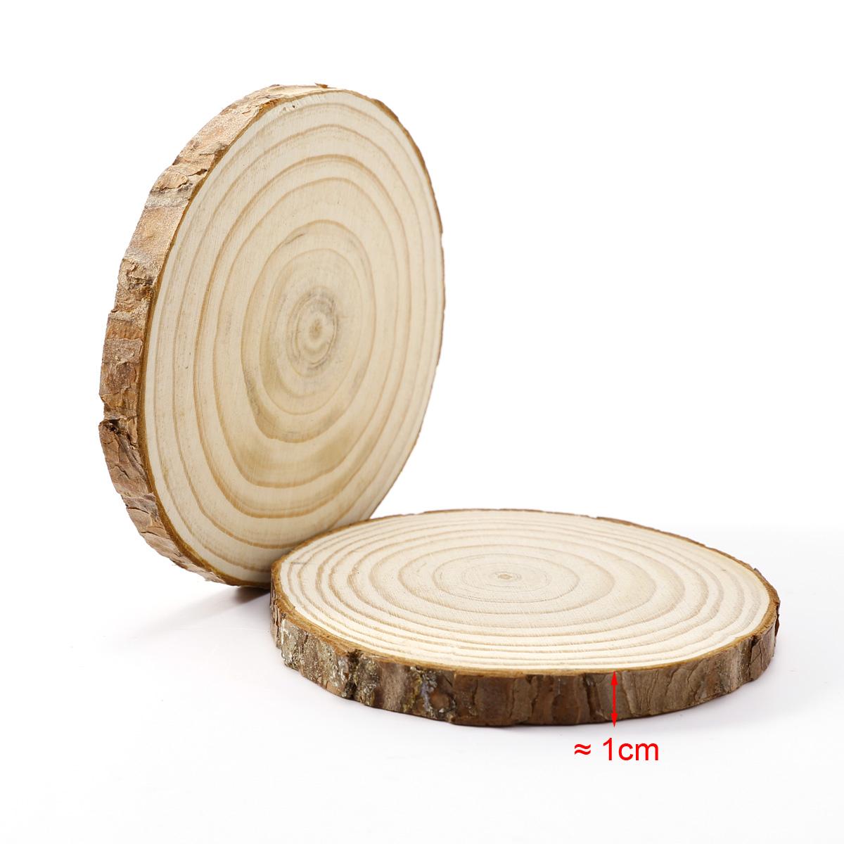 12 natural wood tree log slice for diy crafts wedding table decoration 11 12cm. Black Bedroom Furniture Sets. Home Design Ideas