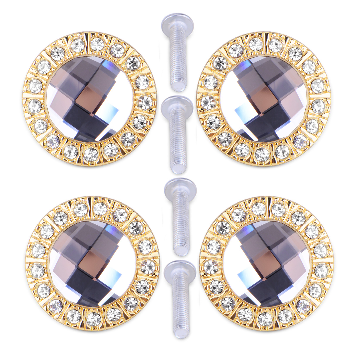4pcs pomo para puerta de armario de cristal diamantes - Pomos puertas armarios ...