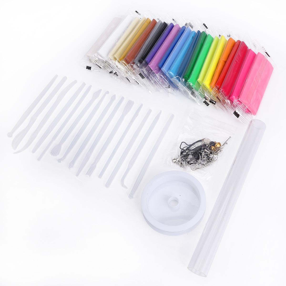 kit 24 couleurs p te polym re fimo b tonnet modelage accessoire bijoux rouleau. Black Bedroom Furniture Sets. Home Design Ideas