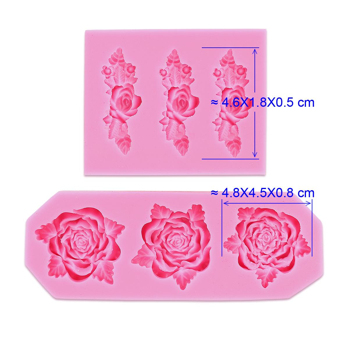 2 x rose silikon form ausstechformen ausstecher torten deko marzipan fondant ebay. Black Bedroom Furniture Sets. Home Design Ideas