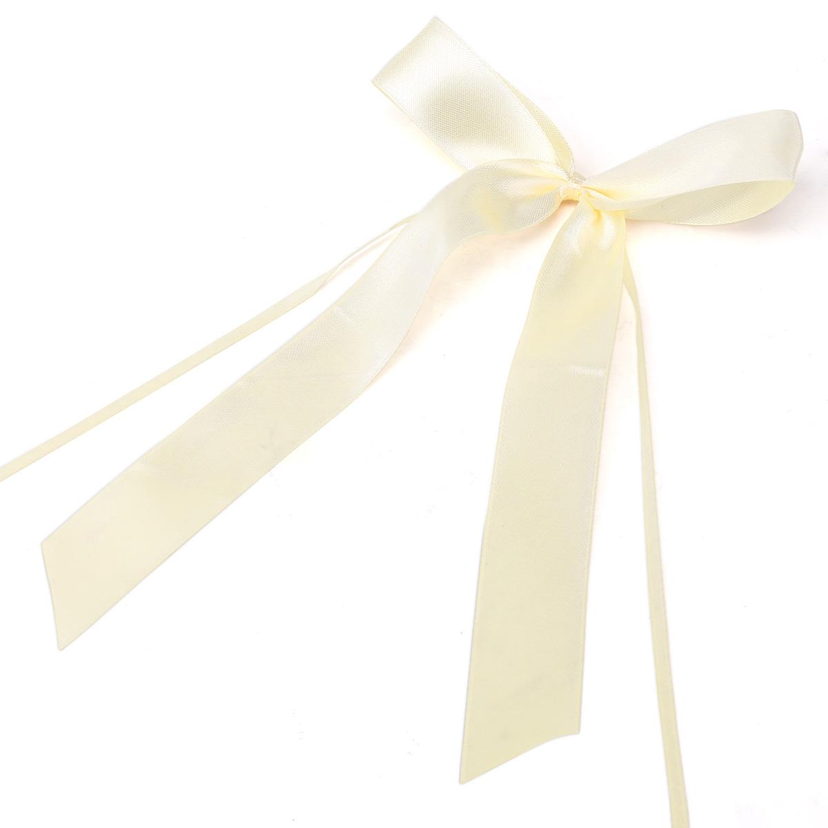 50 30 x noeud papillon ruban satin pour voiture salle de mariage blanc beige. Black Bedroom Furniture Sets. Home Design Ideas