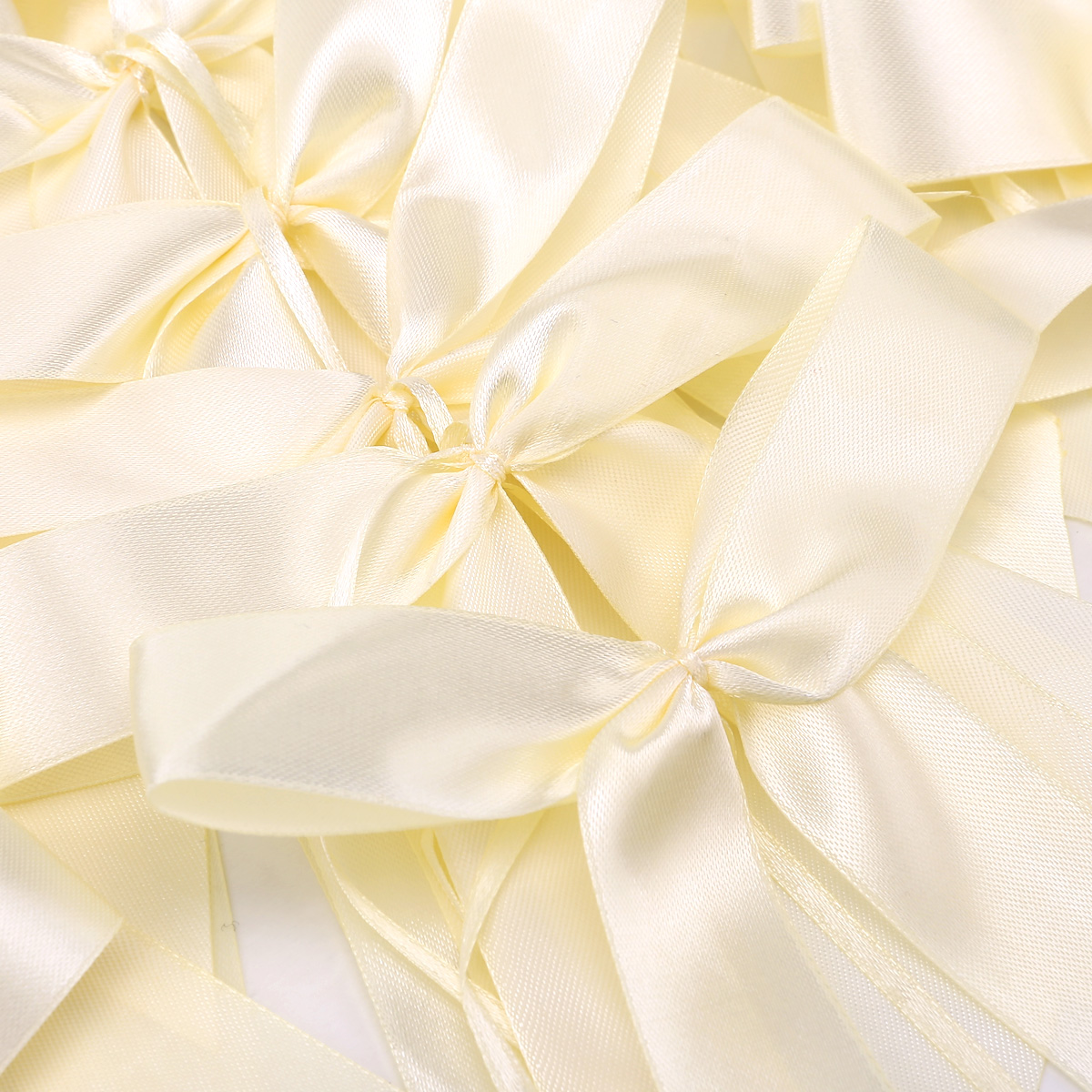 Ivory Pull Bows Satin Ribbon Decorations Wedding Pew Gift Party EBay